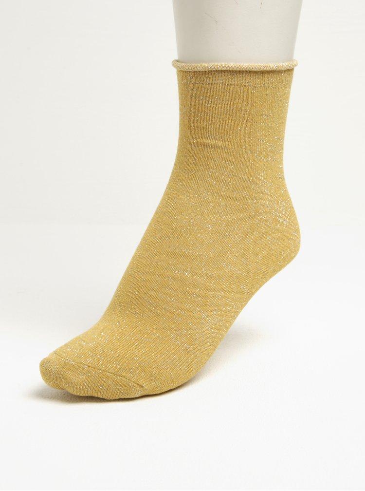Dárková sada dvou párů dámských ponožek v černé a žluté barvě ONLY Disla
