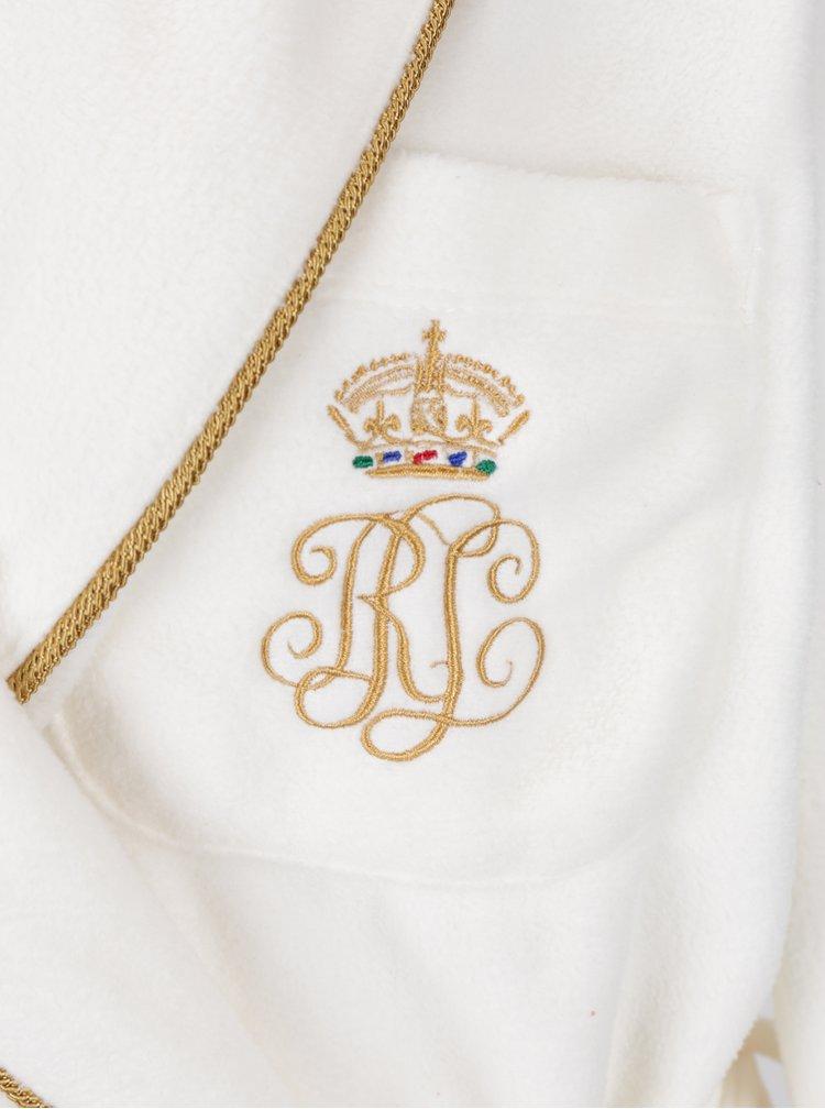 Halat lung crem cu logo auriu brodat si buzunare - Ralph Lauren Dalton
