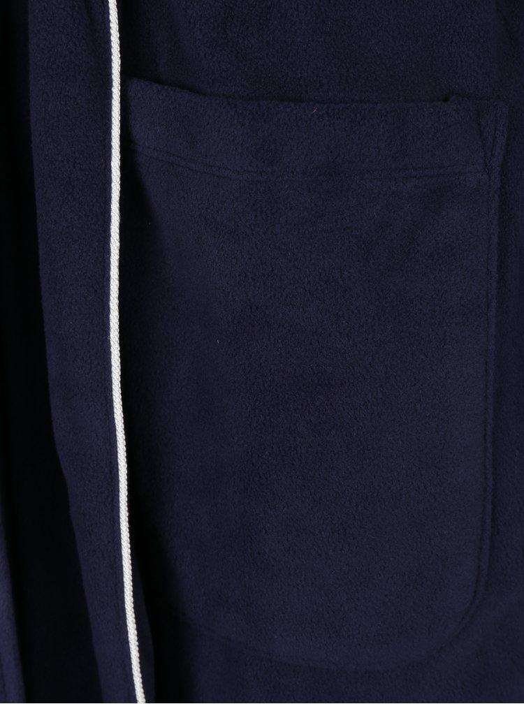 Halat lung bleumarin cu logo brodat si buzunare -  Ralph Lauren Dalton
