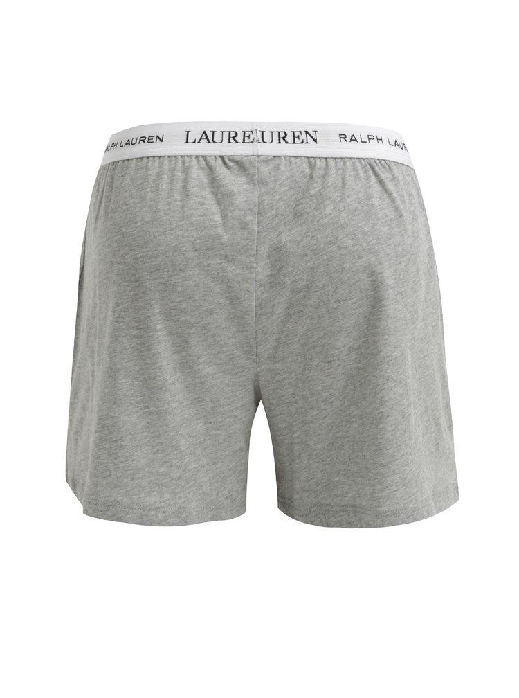 Šedé dámské žíhané trenýrky s logem Lauren Ralph Lauren Soft Jersey