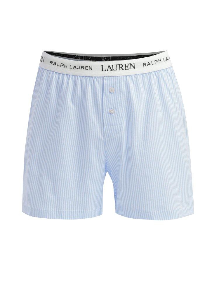 Modré dámské pruhované trenýrky Lauren Ralph Lauren Soft Jersey