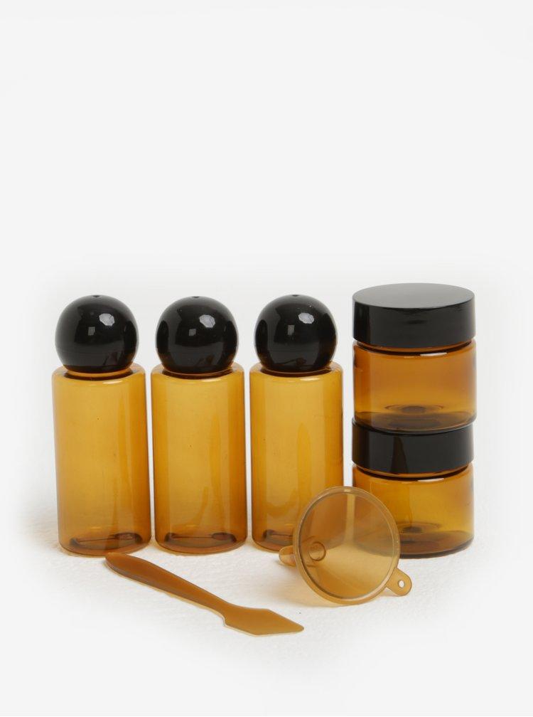 Sada cestovních lahviček na kosmetiku Kikkerland