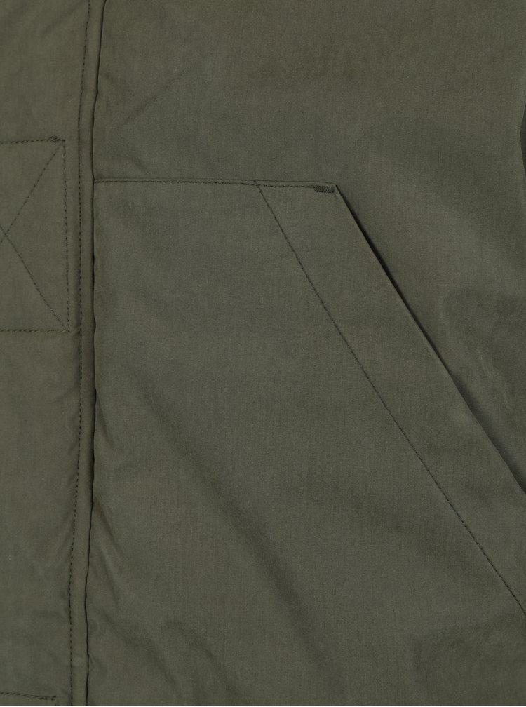 Khaki zimní bunda s kapucí Jack & Jones Jager