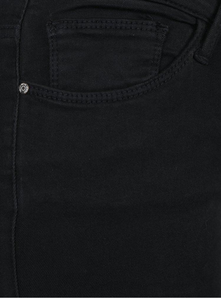 Černé džíny s dírami na kolenou a korálkovou aplikací TALLY WEiJL
