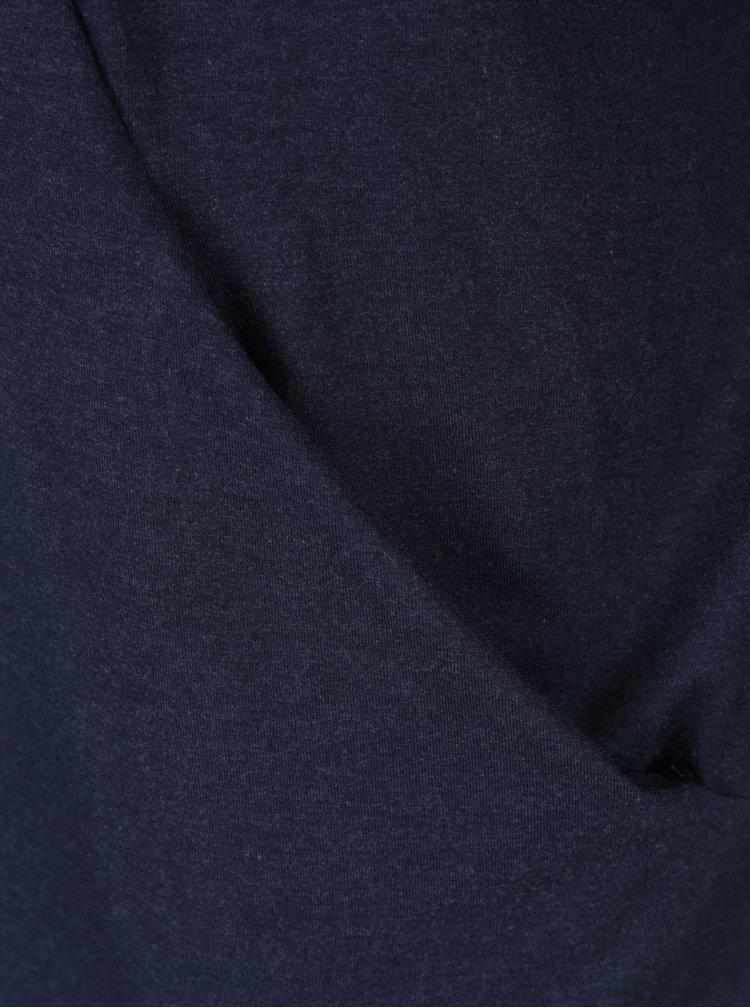 Tmavě modrá žíhaná tunika Yest
