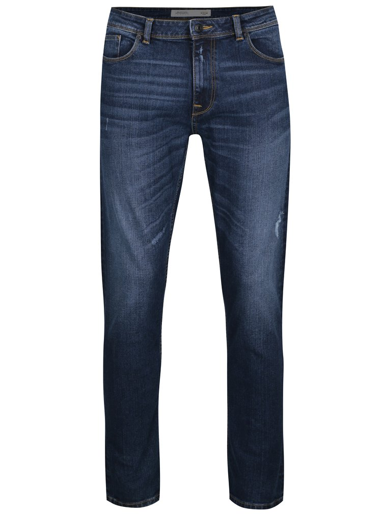 Blugi bleumarin slim fit - Burton Menswear London