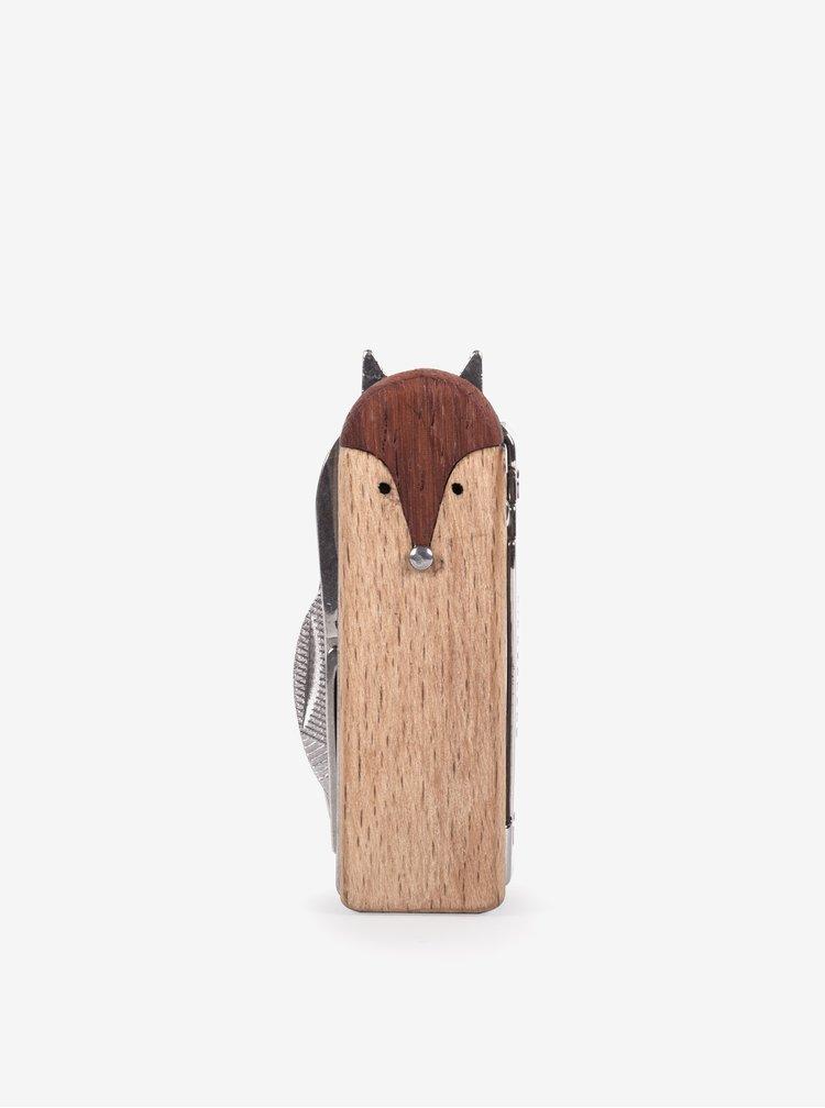 Dispozitiv cu instrumente pentru manichiura in forma de vulpe - Kikkerland
