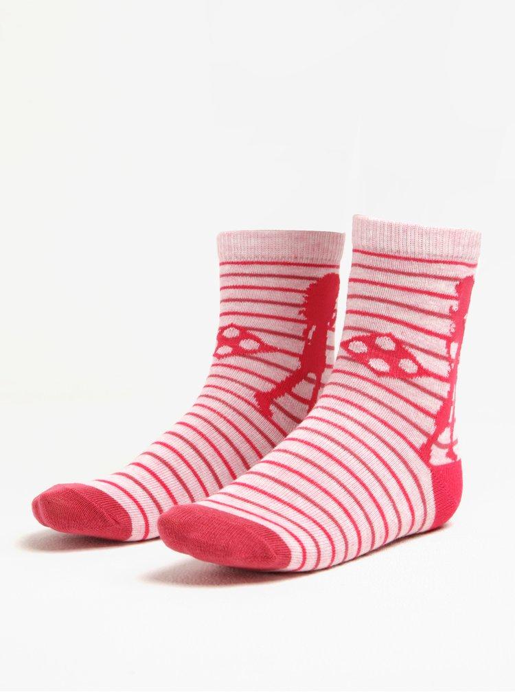 Černo-růžová sada tří párů holčičích ponožek Lego Wear Alexa