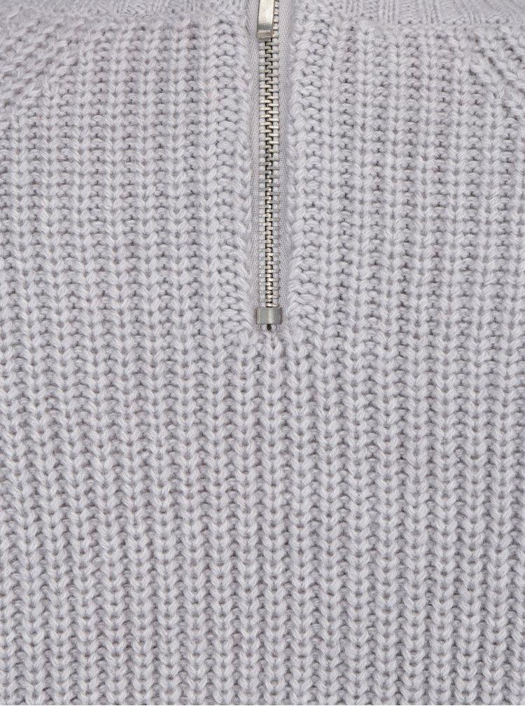 Světle šedý zimní svetr Dorothy Perkins Petite