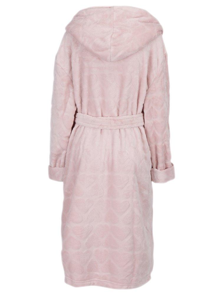 Halat de baie roz cu model inimioare - Dorothy Perkins