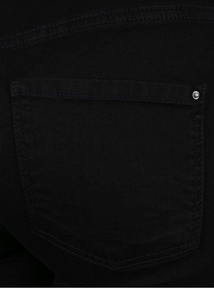 Černé zkrácené super skinny džíny s potrhaným efektem Dorothy Perkins Petite