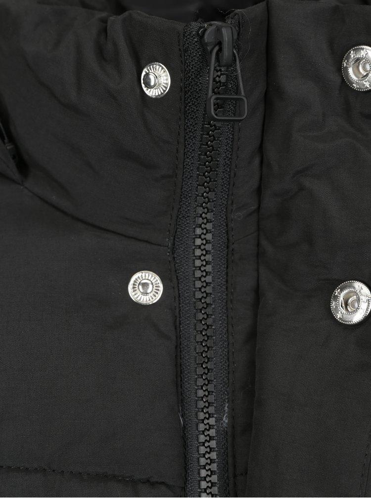 Geaca neagra matlasata de iarna cu gluga - Jack & Jones Figure