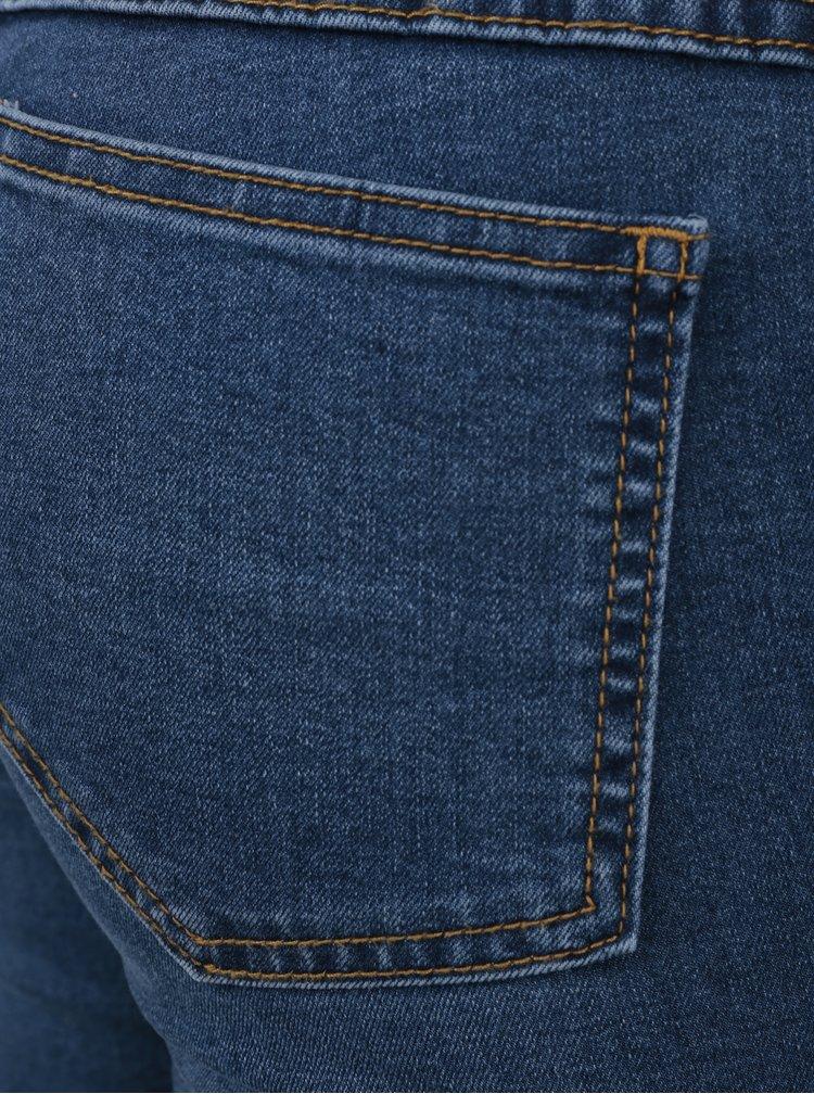 Modré slim fit džíny s rozparky VILA Anni