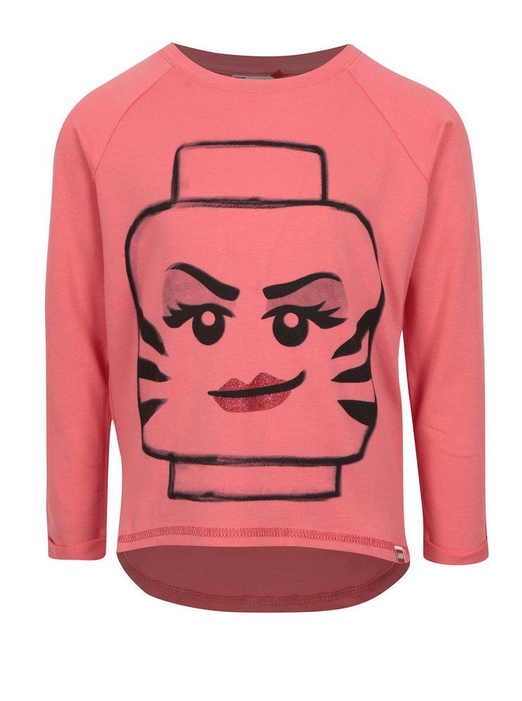 Růžové holčičí tričko s potiskem Lego Wear Tallys