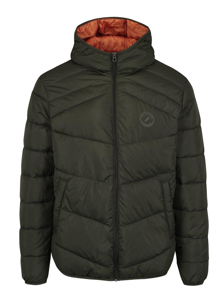 Jacheta verde inchis matlasata cu gluga - Jack & Jones Landing