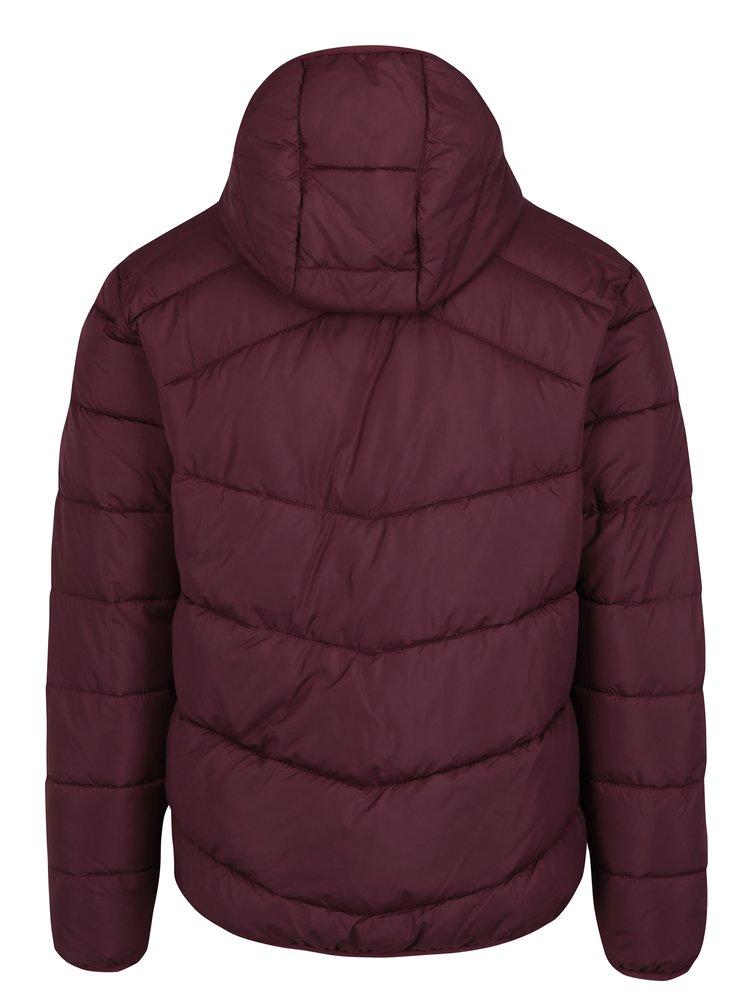 Jacheta rosu bordo matlasata cu gluga - Jack & Jones Landing