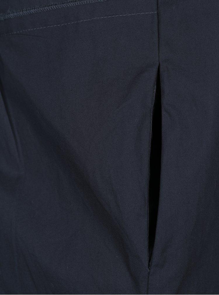 Camasa lunga bleumarin cu volan frontal VILA Reset