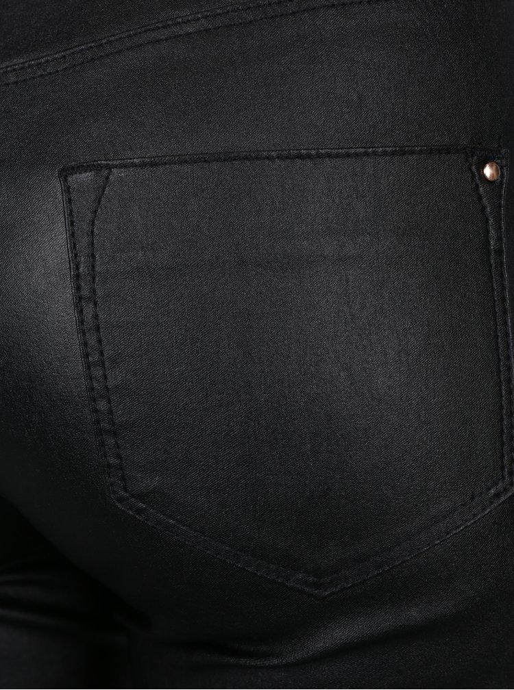 Jeggins negru - metalic cu taie inalta -  Dorothy Perkins Petite