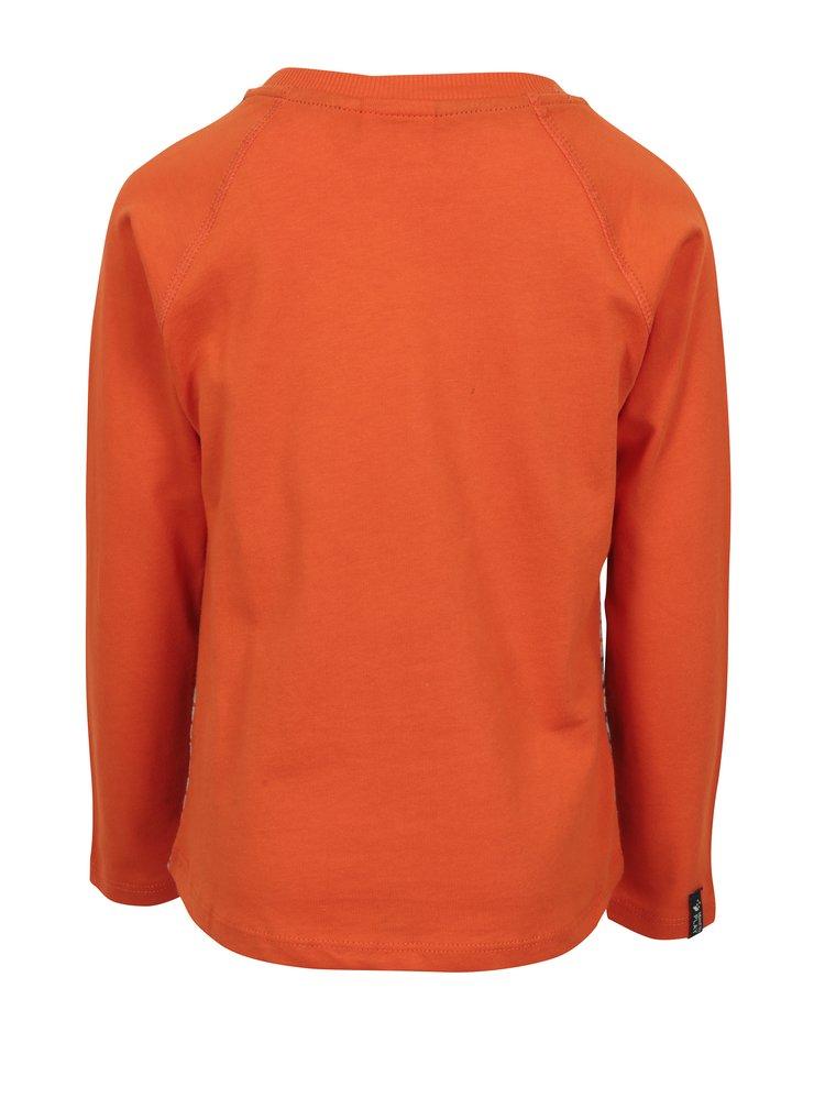 Šedo-oranžové klučičí tričko s potiskem Ninjago Lego Wear Teo