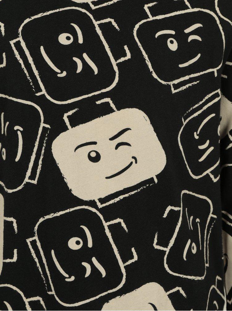 Béžovo-černé klučičí tričko s potiskem Lego Wear Teo