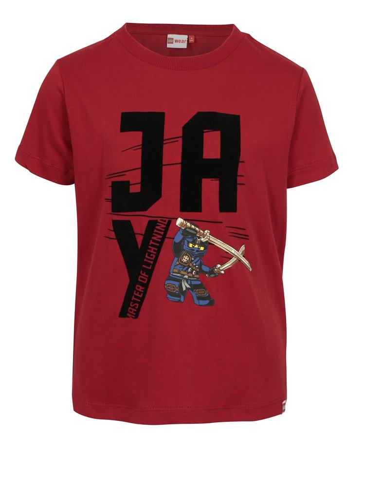 Červené klučičí tričko s potiskem Lego Wear Teo