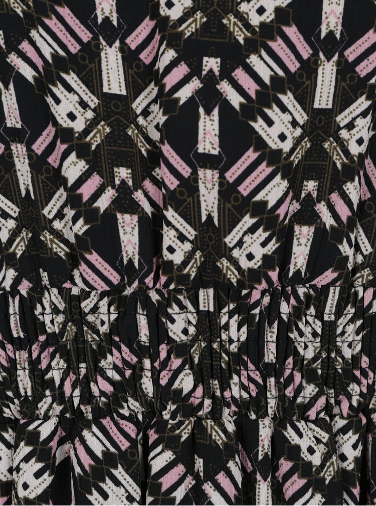 Černé vzorované maxišaty VILA Monar