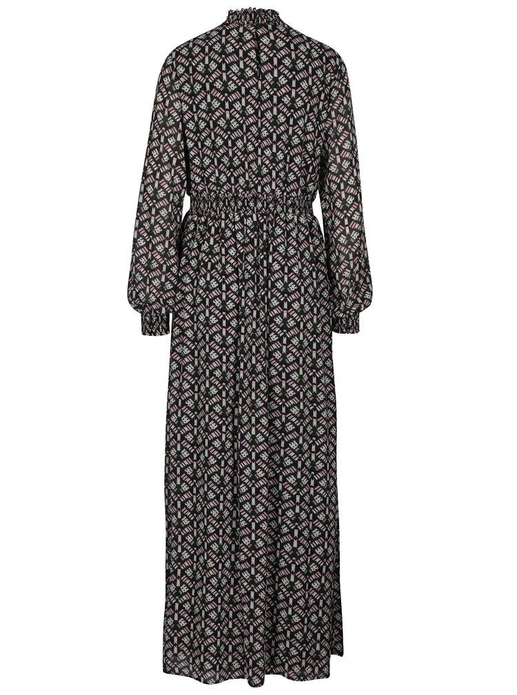 Rochie maxi negru&alb cu model etno VILA Monar