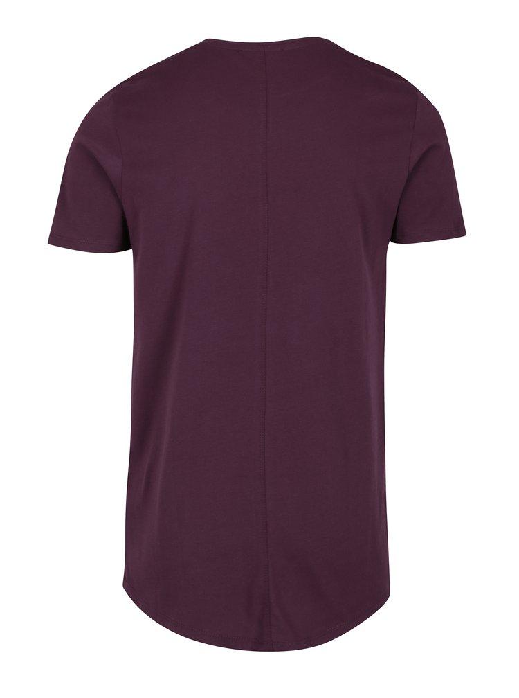 Vínové basic tričko Jack & Jones Premium Hugo