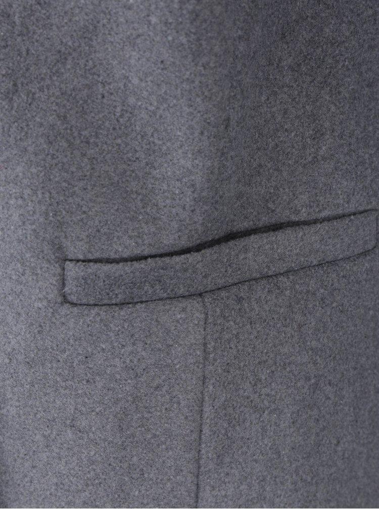 Šedý žíhaný kabát Dorothy Perkins Petite