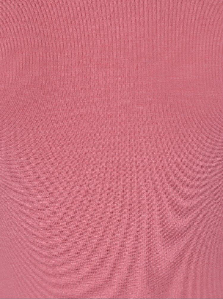 Body roz pal cu maneca scurta din bumbac - ZOOT