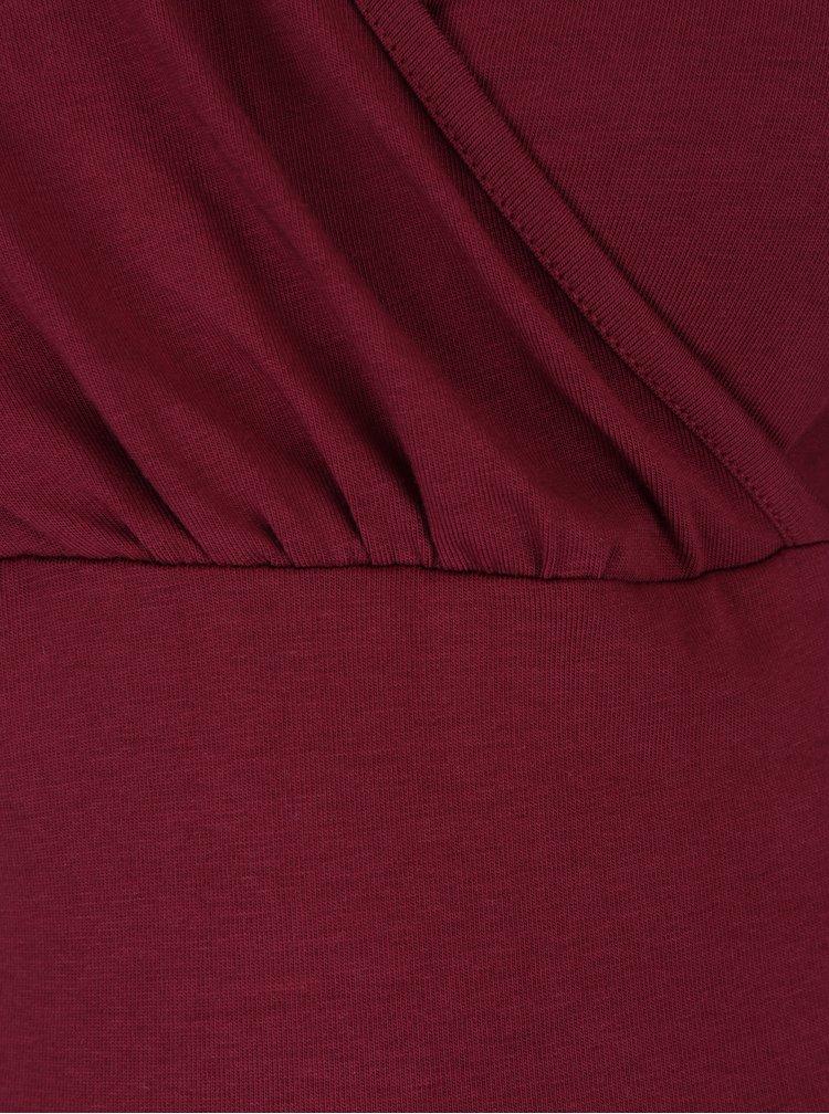 Bluza bordo cu maneci 3/4 pentru femei insarcinate / care alapteaza - Dorothy Perkins Maternity