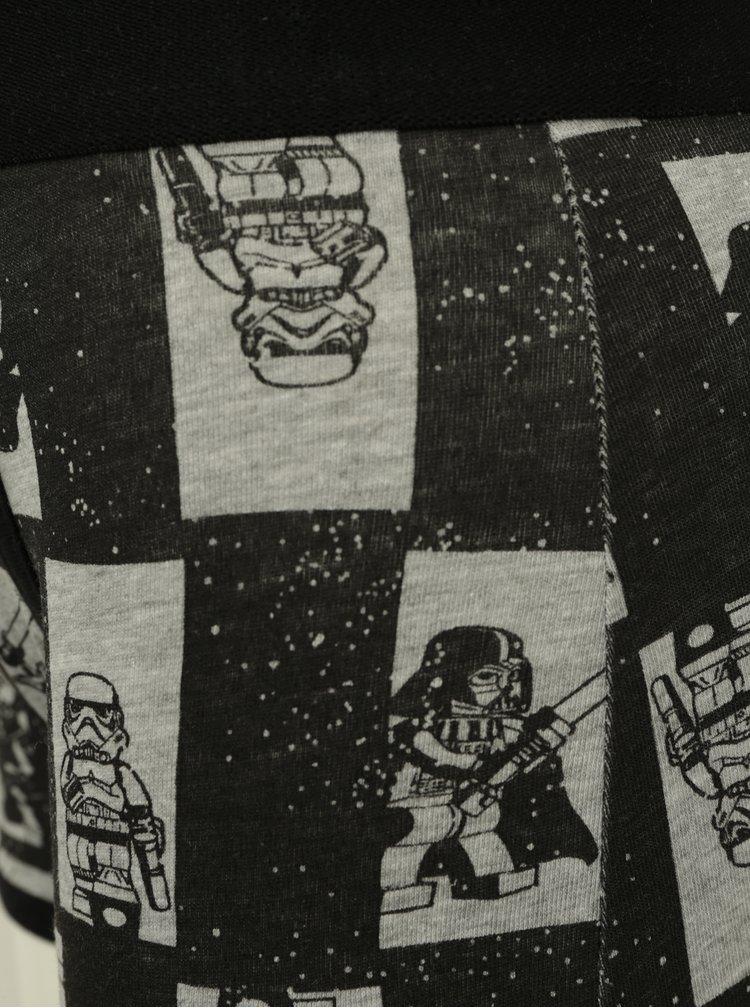 Černo-šedý klučičí set tílka a boxerek Lego Wear Nicolai