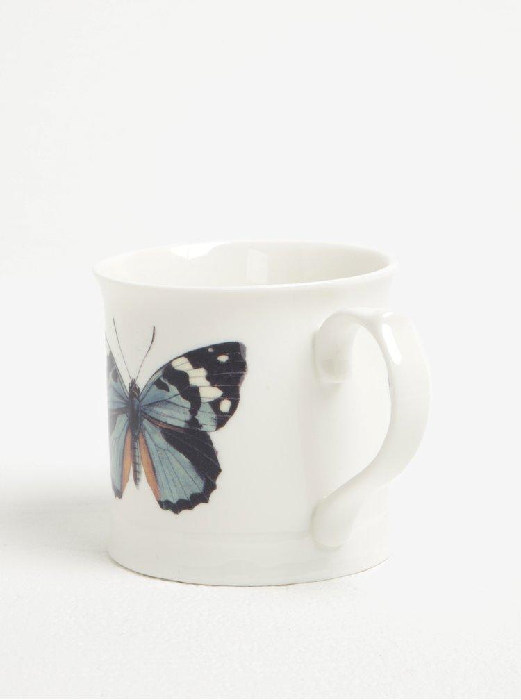Krémový keramický hrnek s motivem motýla Magpie Curios