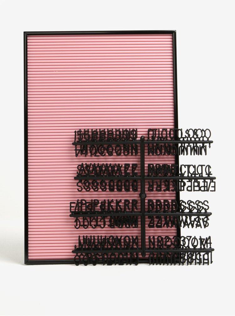 Tabla roz cu cifre si numere - Magpie