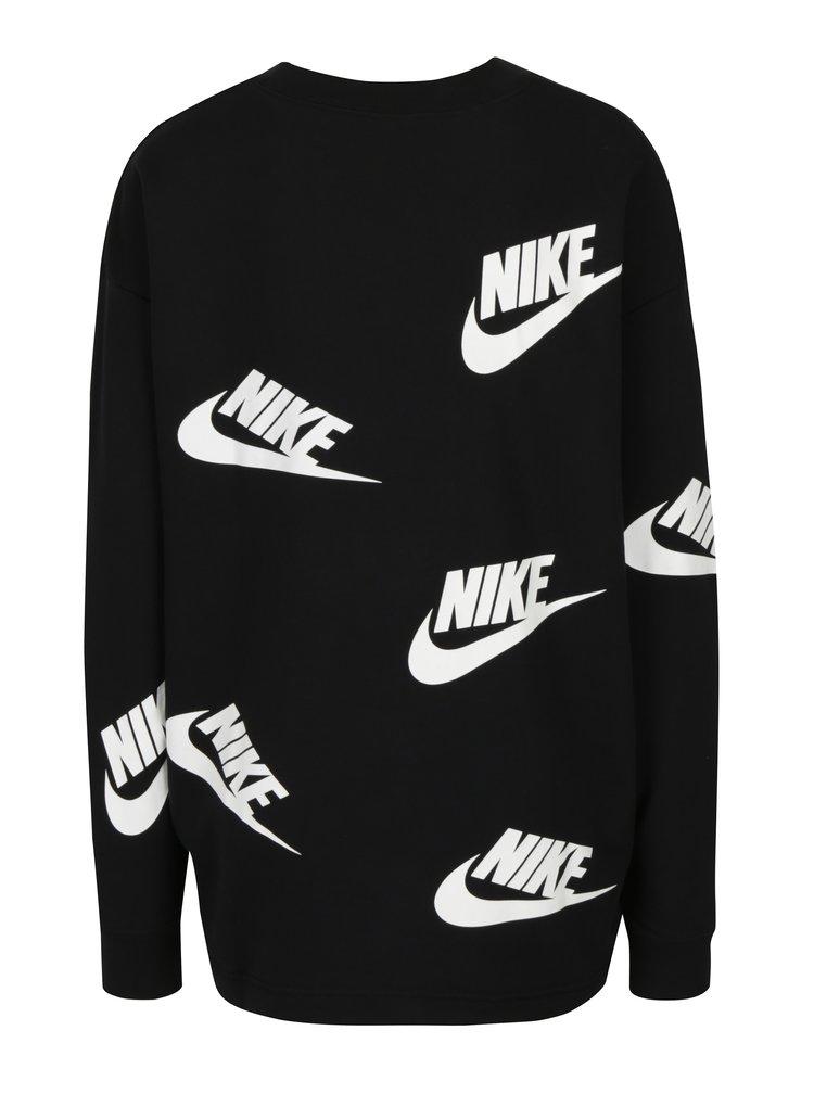 Bluza neagra cu print pentru femei - Nike