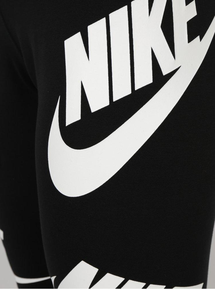 Černé dámské legíny s potiskem Nike