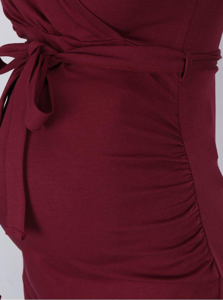 Rochie bordo cu maneci 3/4 pentru femei insarcinate / care alapteaza - Dorothy Perkins Maternity