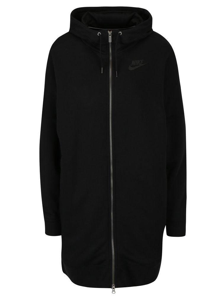 Hanorac negru lung pentru femei Nike Hoodie