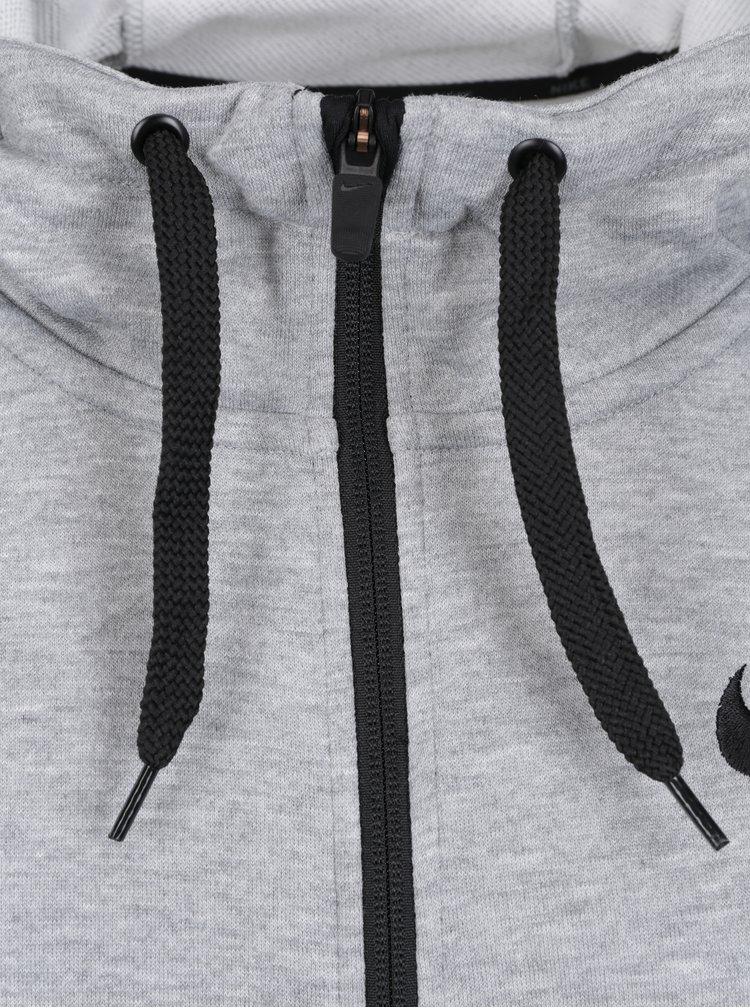 Šedá pánská funkční mikina Nike Hoodie
