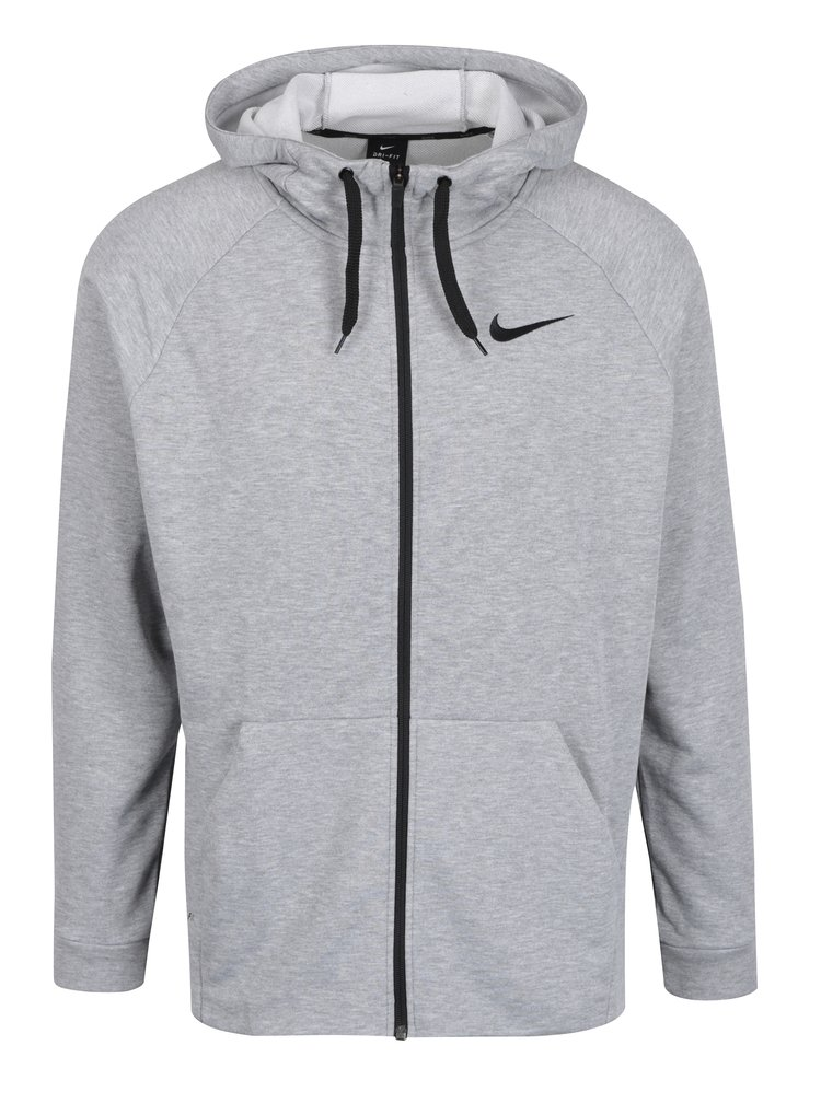 Hanorac gri melanj deschis cu fermoar pentru barbati Nike Hoodie