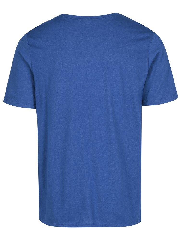 Tricou albastru barbatesc cu print text Nike