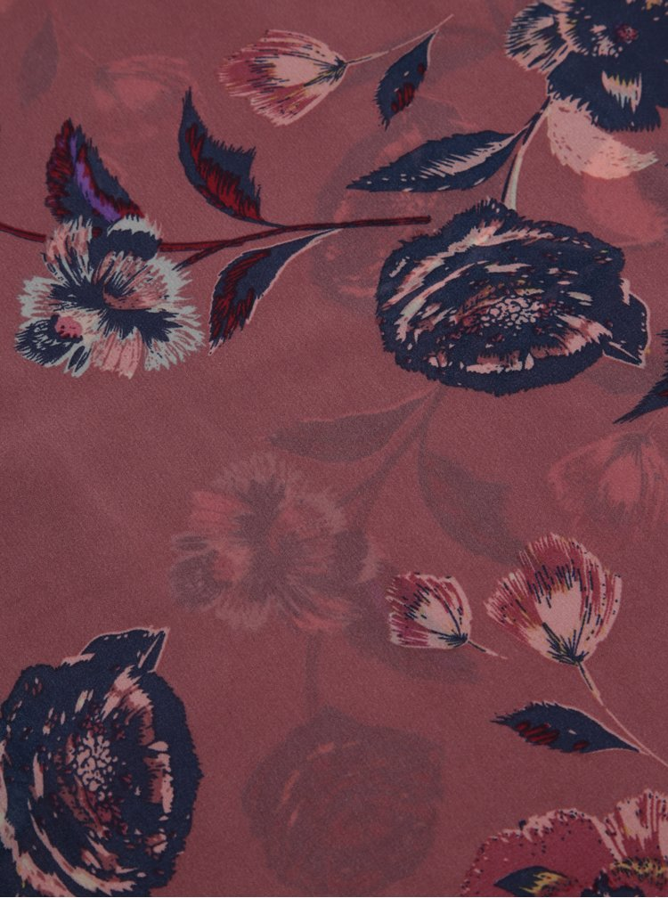 Esarfa roz prafuit cu print floral - Dorothy Perkins