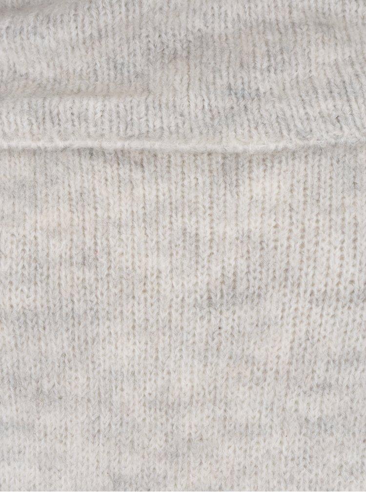 Světle šedý oversize svetr s příměsí vlny ONLY Bergen