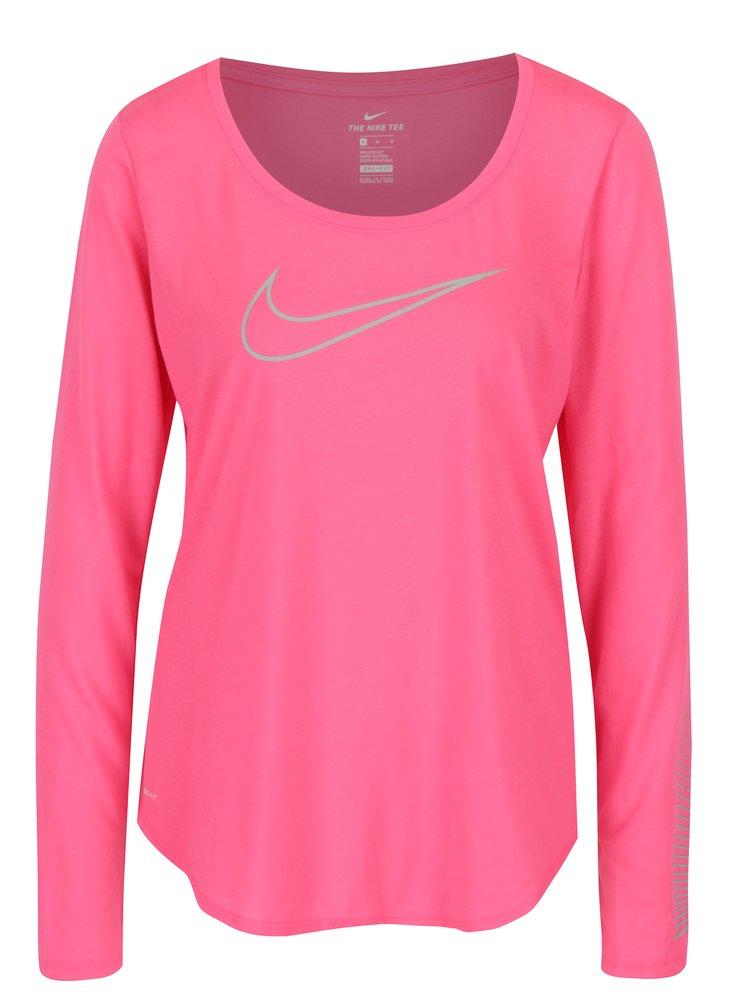 Bluza sport roz cu print pentru femei - Nike