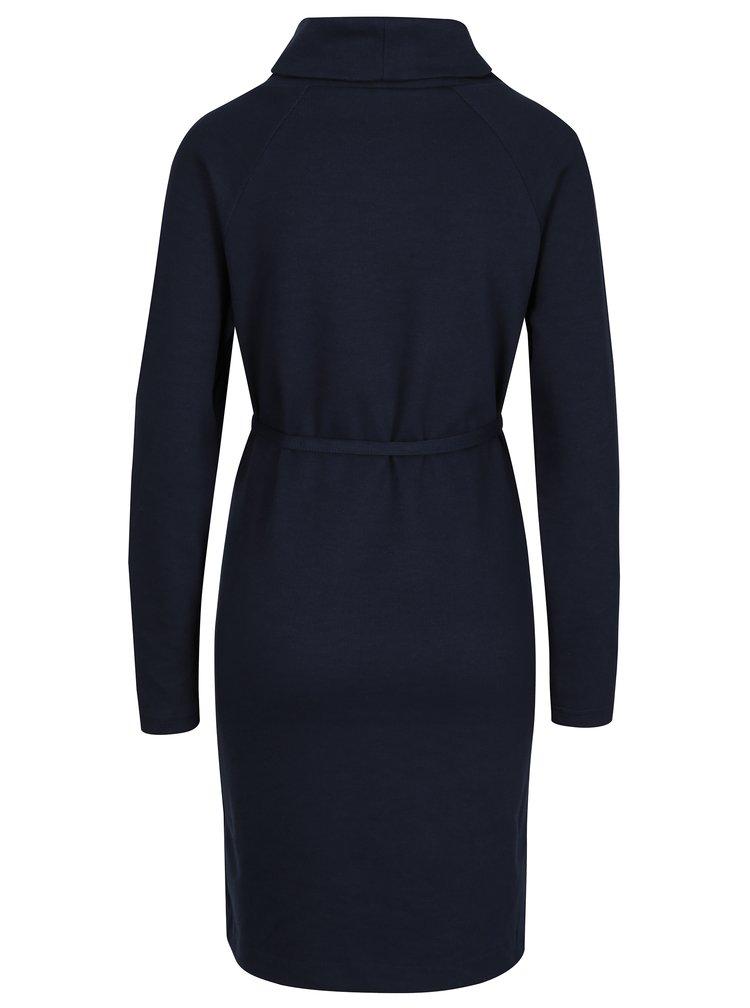 Tmavě modré těhotenské šaty s rolákem Mama.licious Lovisa