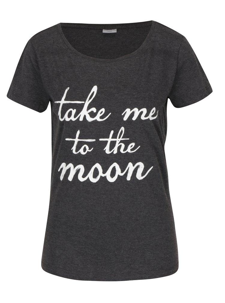 Tmavě šedé tričko s potiskem Jacqueline de Yong Chicagos