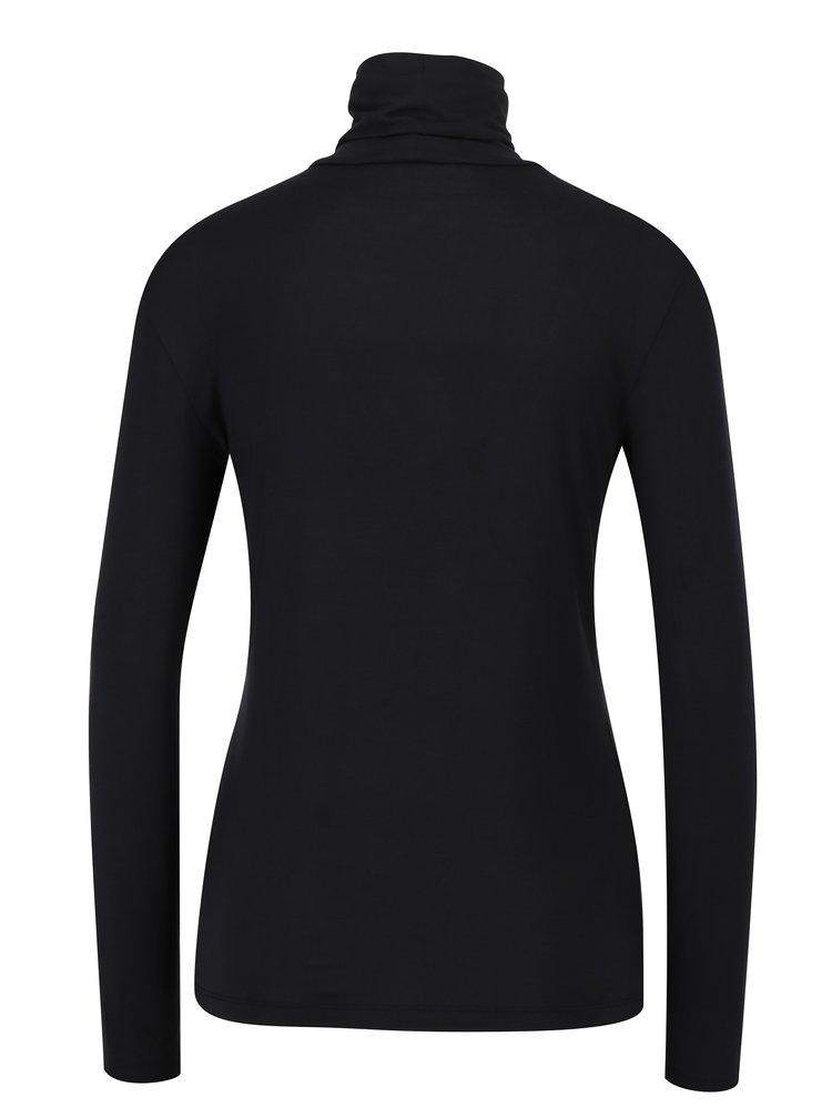 Černé tričko s rolákem VERO MODA Charly