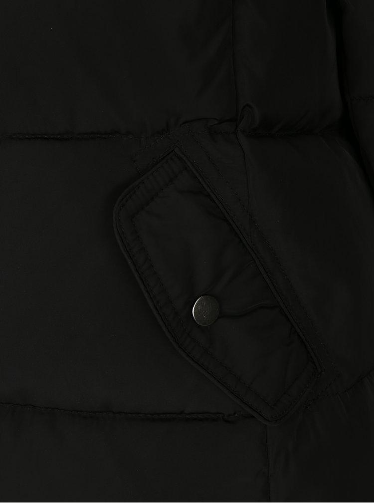 Geaca matlasata neagra cu blana artificiala ONLY Rhoda
