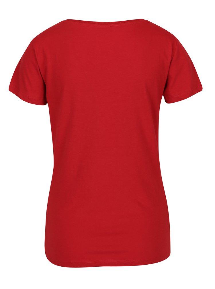 Červené tričko s potiskem Jacqueline de Yong Chicagos