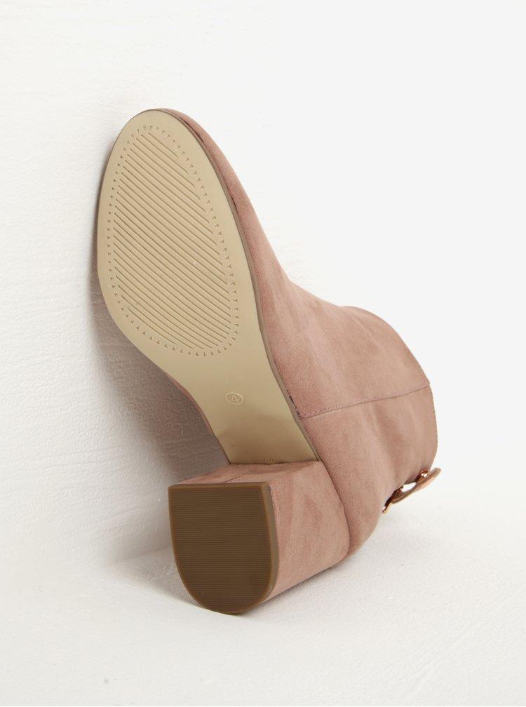 Starorůžové kotníkové boty v semišové úpravě Dorothy Perkins